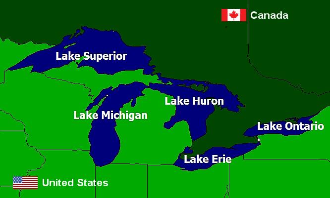 Laurentian Great Lakes Global Great Lakes - Lake michigan us map